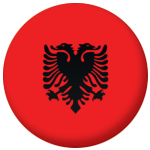Albania Country Flag 25mm Flat Back
